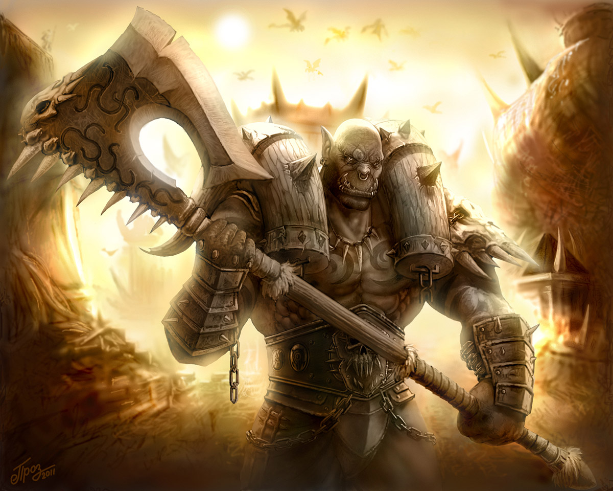... not a fan of the Character, I love this image of Garrosh Hellscream